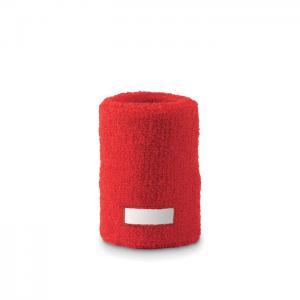 Opaska-frotka na nadgarstek czerwony