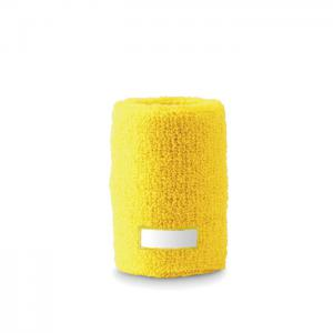 Opaska-frotka na nadgarstek żółty