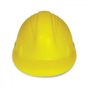 Antystres kask z PU żółty