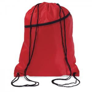Duży worek zamykany na sznurki czerwony