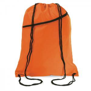 Duży worek zamykany na sznurki pomarańczowy