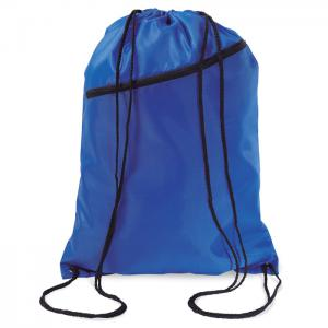 Duży worek zamykany na sznurki niebieski
