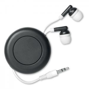 Słuchawki zwijane czarny