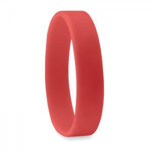 Silikonowa opaska na rękę czerwony