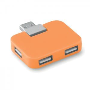 Hub USB 4 porty pomarańczowy