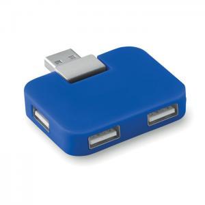 Hub USB 4 porty niebieski
