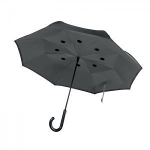 Odwrotnie otwierany parasol szary
