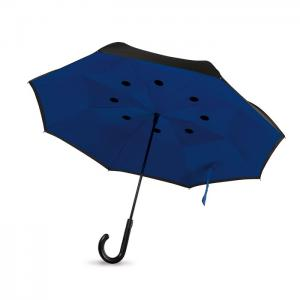 Odwrotnie otwierany parasol niebieski