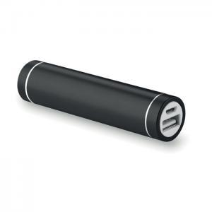 Powerbank w kształcie cylindra czarny