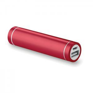 Powerbank w kształcie cylindra czerwony