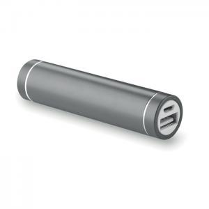 Powerbank w kształcie cylindra tytanowy