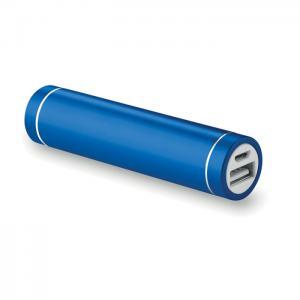 Powerbank w kształcie cylindra niebieski