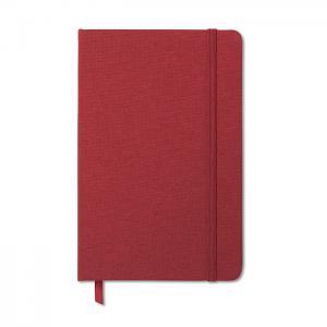 Notatnik w tekstylnej oprawie czerwony