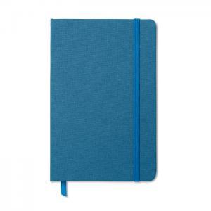 Notatnik w tekstylnej oprawie niebieski