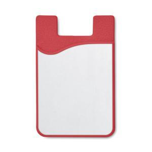 Silikonowe etui na karty czerwony