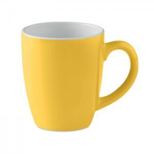Kolorowy kubek ceramiczny żółty