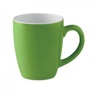 Kolorowy kubek ceramiczny zielony