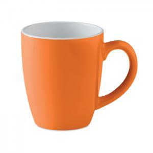 Kolorowy kubek ceramiczny pomarańczowy