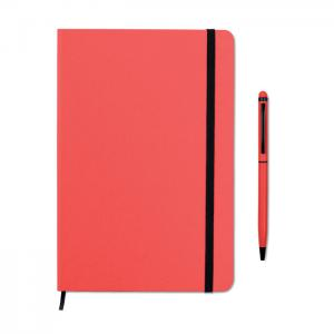 Zestaw notes z długopisem czerwony