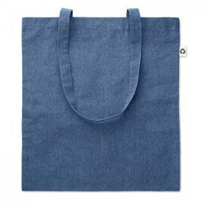 Torba na zakupy dwukolorowa niebieski