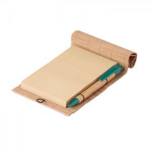 Bambusowy notatnik 80 kartek