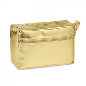 Kosmetyczka matowy złoty