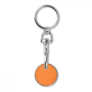 Brelok z żetonem do wózka pomarańczowy