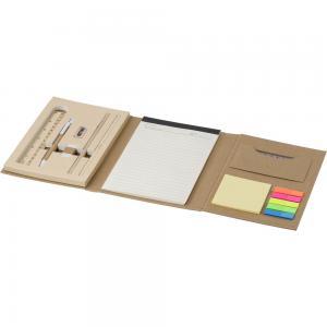 Teczka konferencyjna, notatnik, linijka, długopis, ołówki, temperówka, gumka do mazania, karteczki samoprzylepne