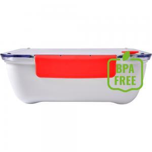 Pudełko śniadaniowe 920 ml, widelec czerwony