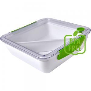 Pudełko śniadaniowe 920 ml, widelec jasnozielony