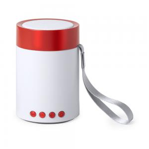 Głośnik bezprzewodowy 3W, radio czerwony