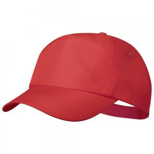 Czapka z daszkiem rPET czerwony