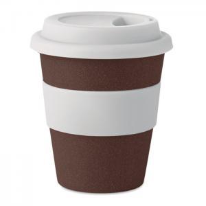 Kubek  łuski kawowe/PP