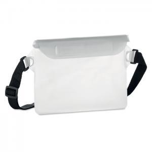 Wodoodporna torba na biodro przezroczysty biały