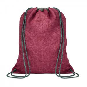 Ocieplana torba ze sznurkiem czerwony
