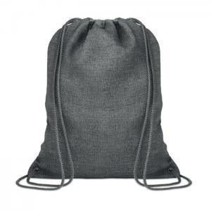 Ocieplana torba ze sznurkiem szary