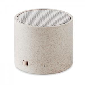 Głośnik ze słomy pszenicy/ABS beżowy