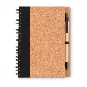 Korkowy notatnik z długopisem