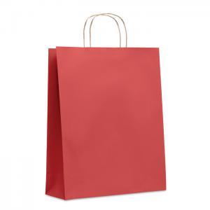 Duża papierowa torba czerwony
