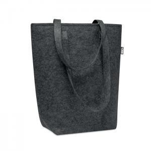 Filcowa torba na zakupy RPET ciemno szary
