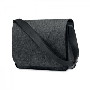Filcowa torba na laptopa RPET ciemno szary