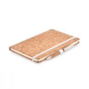 Notatnik A5, długopis z korka