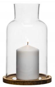 Oval oak świecznik