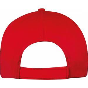 Czapka z daszkiem 5 paneli SANTA FE czerwony