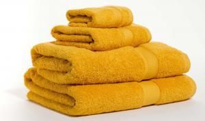 Zestaw ręczników Terry z certyfikatem Fair Trade żółty-musztardowy 14