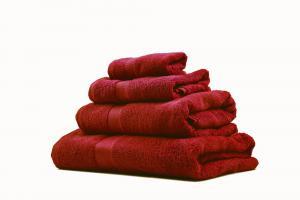 Zestaw ręczników Terry z certyfikatem Fair Trade czerwony 35