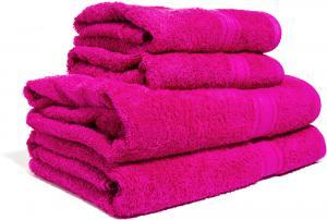 Zestaw ręczników Terry z certyfikatem Fair Trade fuksja 30