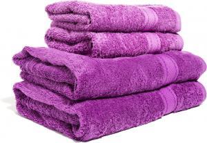 Zestaw ręczników Terry z certyfikatem Fair Trade liliowy 44
