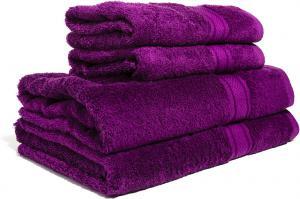 Zestaw ręczników Terry z certyfikatem Fair Trade fioletowy 46