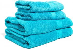 Zestaw ręczników Terry z certyfikatem Fair Trade turkusowy 54